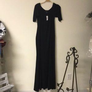 Ashley Stewart Dress Size 18/20 Black Maxi NWT